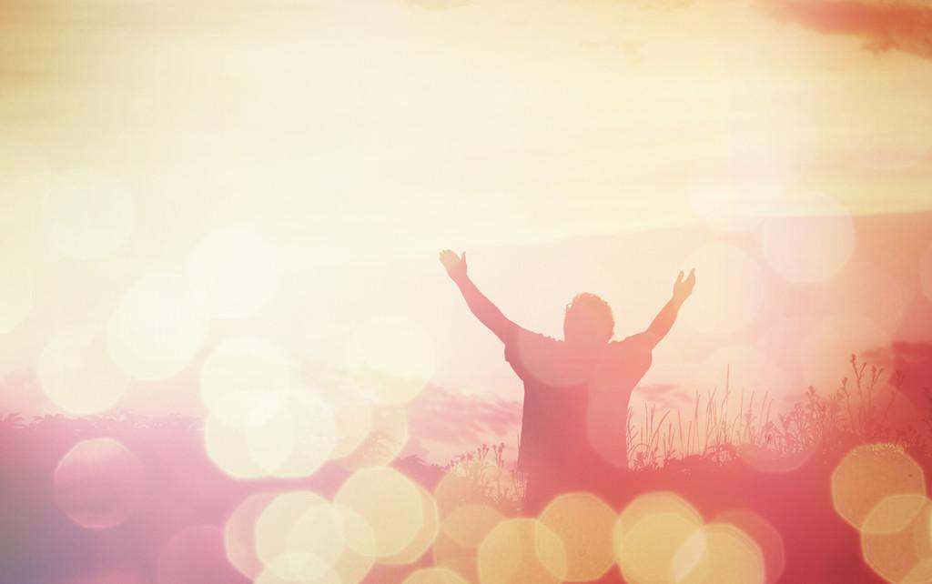 Prayer in Sun light